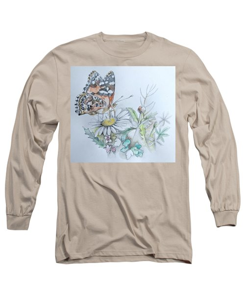 Long Sleeve T-Shirt featuring the drawing Small Pleasures by Rose Legge