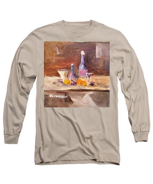 Small Still Life Long Sleeve T-Shirt by Larry Hamilton