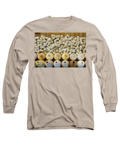 Small Wooden Flasks Long Sleeve T-Shirt by Yali Shi