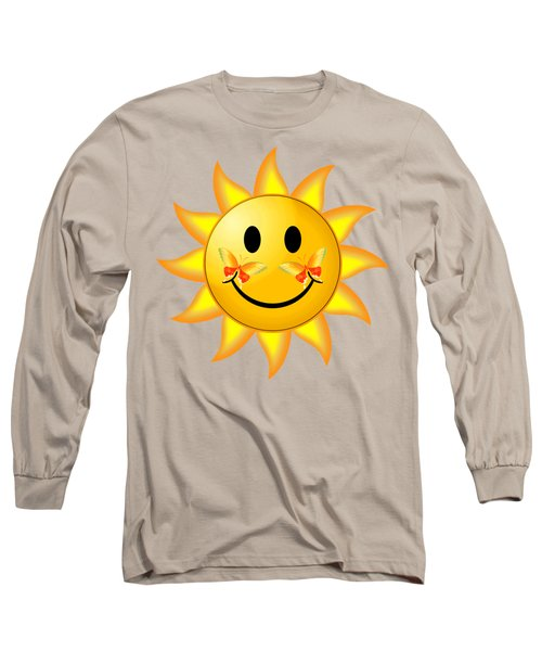 Smiley Face Sun Long Sleeve T-Shirt