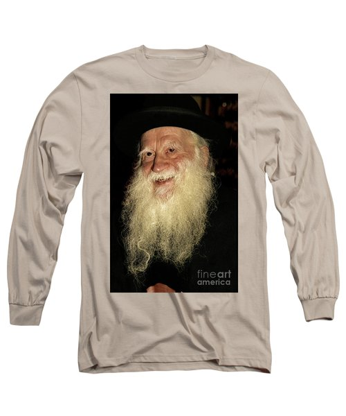 Long Sleeve T-Shirt featuring the photograph Smiling Picture Of Rabbi Yehuda Zev Segal by Doc Braham