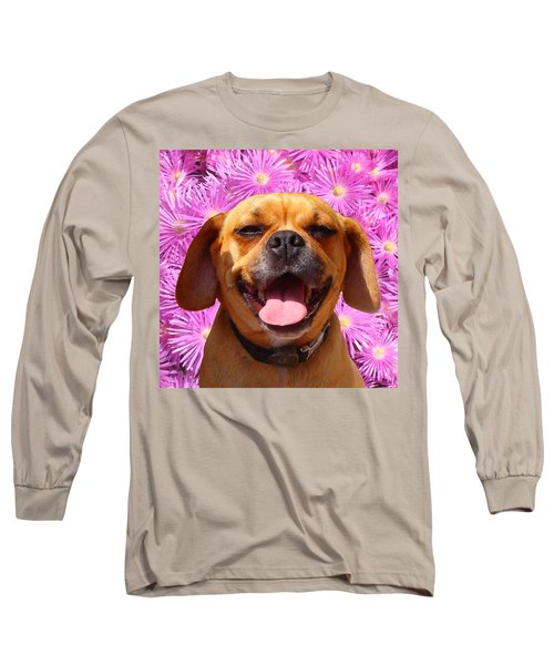 Smiling Pug Long Sleeve T-Shirt