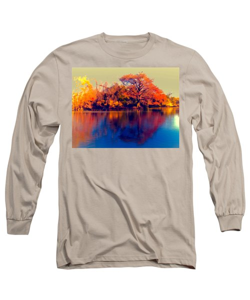 Long Sleeve T-Shirt featuring the digital art Smoke Signals by Wendy J St Christopher