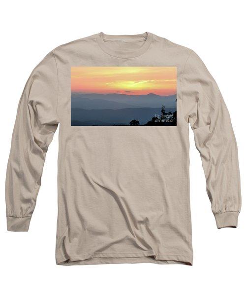 Smokey Mnt Sunset Long Sleeve T-Shirt