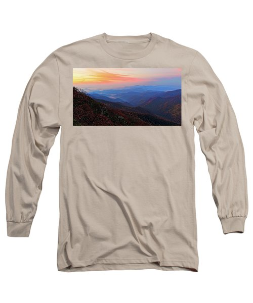Dawn From Standing Indian Mountain Long Sleeve T-Shirt by Daniel Reed