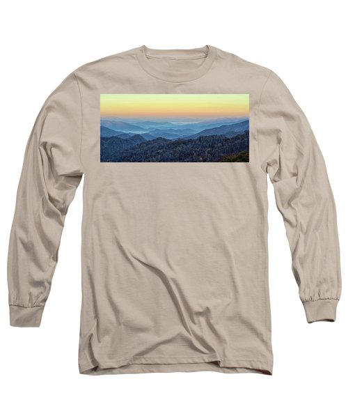 Smoky Mountains Long Sleeve T-Shirt by Nancy Landry