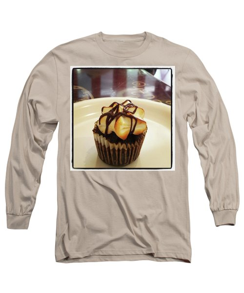 Long Sleeve T-Shirt featuring the photograph smore Miniature Cupcake N Coffee by Mr Photojimsf