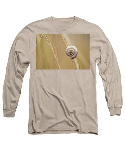 Snail On Autum Grass Blade Long Sleeve T-Shirt
