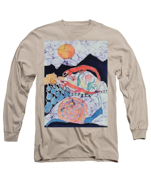 Snail With Red Efts Long Sleeve T-Shirt