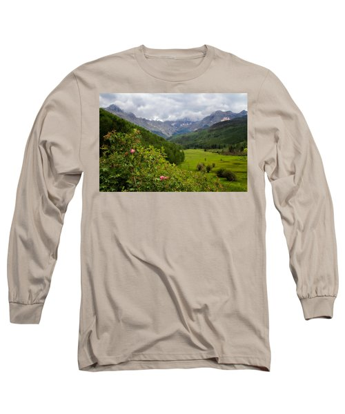 Long Sleeve T-Shirt featuring the photograph Sneffles Range by Lana Trussell