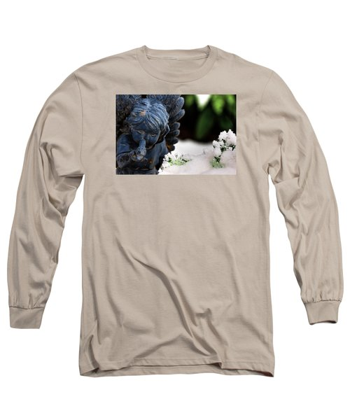 Long Sleeve T-Shirt featuring the photograph Snow Angel Whisperer by Shelley Neff