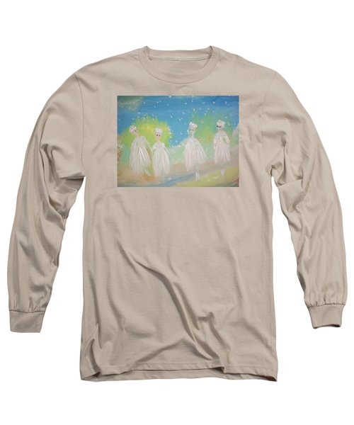 Snow Ballet Long Sleeve T-Shirt by Judith Desrosiers