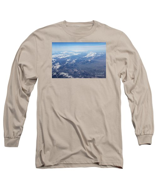 Snow Covered Rocky  Long Sleeve T-Shirt by Yumi Johnson
