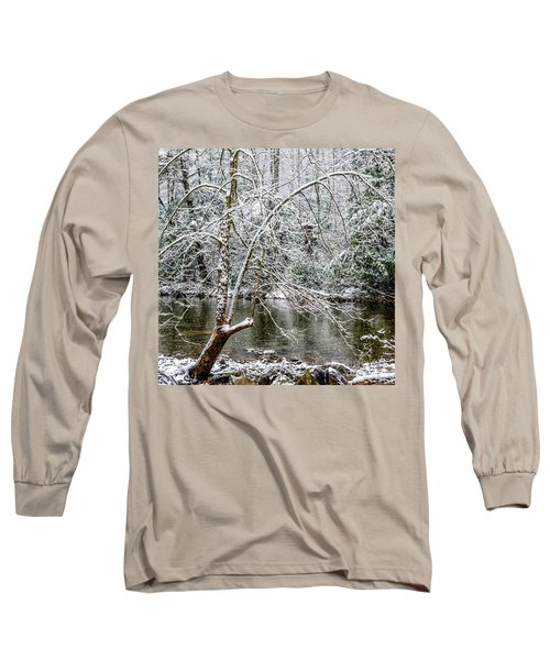 Long Sleeve T-Shirt featuring the photograph Snow Cranberry River by Thomas R Fletcher
