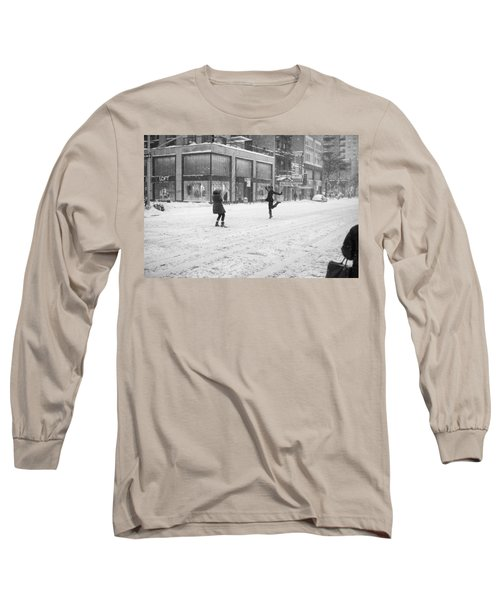 Snow Dance - Le - 10 X 16 Long Sleeve T-Shirt