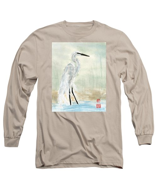 Snow Egret Long Sleeve T-Shirt