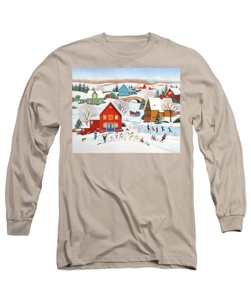 Snow Family  Long Sleeve T-Shirt by Wilfrido Limvalencia