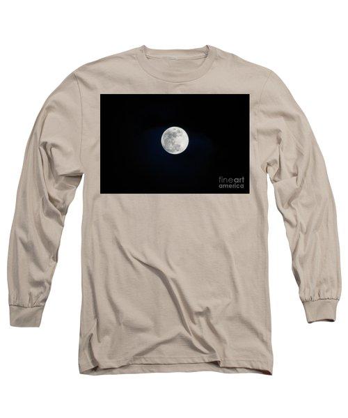 Snow Moon 4 Long Sleeve T-Shirt by Janie Johnson