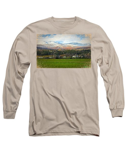 Snow On The Mountains Long Sleeve T-Shirt by John Selmer Sr