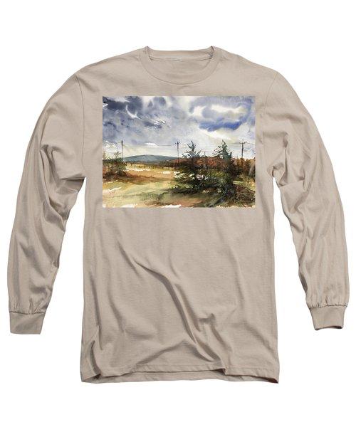 Snow Sky In Fall Long Sleeve T-Shirt