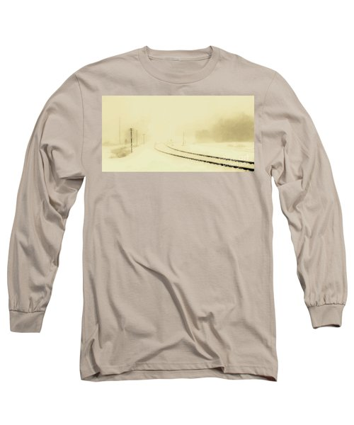 Snowstorm In The Yard S Long Sleeve T-Shirt