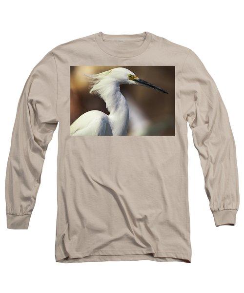 Snowy Egret Long Sleeve T-Shirt by Jason Moynihan