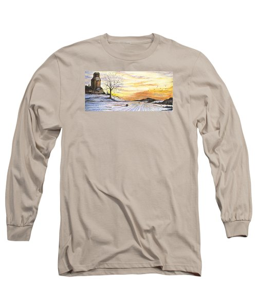 Snowy Farm Long Sleeve T-Shirt by Darren Cannell