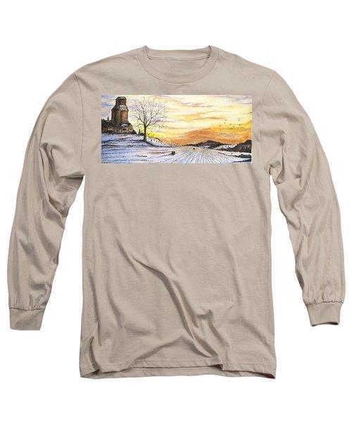 Snowy Farm Long Sleeve T-Shirt