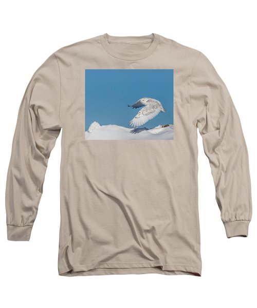 Snowy Owl - Taking Flighty Long Sleeve T-Shirt by Dan Traun