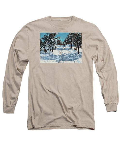 Snowy Road Home Long Sleeve T-Shirt