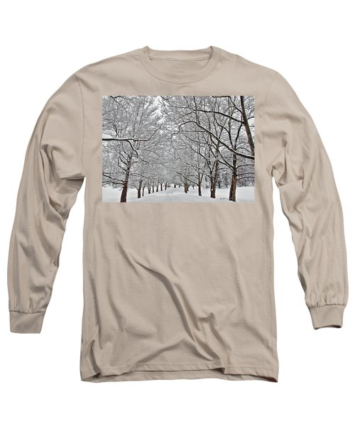 Long Sleeve T-Shirt featuring the photograph Snowy Treeline by Aimee L Maher Photography and Art Visit ALMGallerydotcom