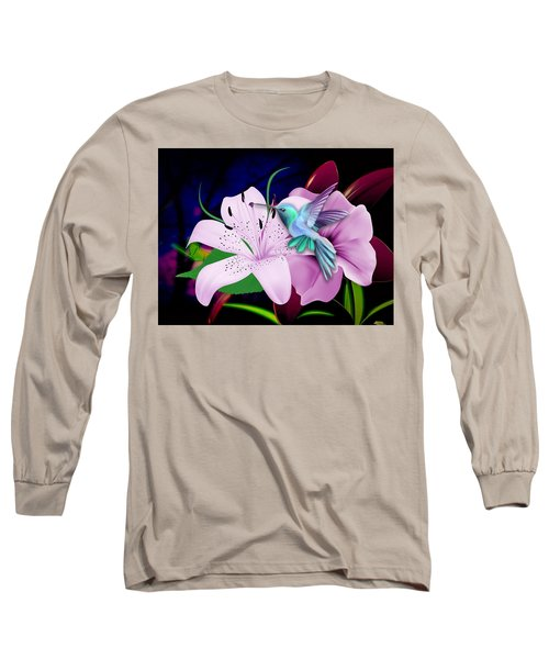 Long Sleeve T-Shirt featuring the mixed media Soaring by Marvin Blaine
