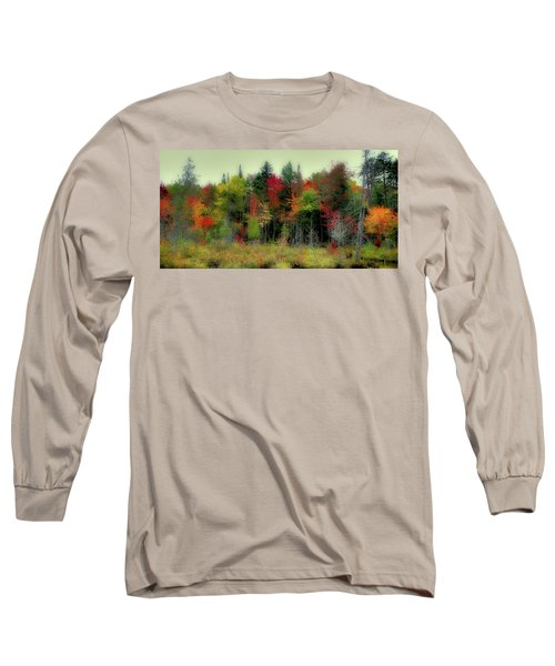 Long Sleeve T-Shirt featuring the photograph Soft Autumn Panorama by David Patterson
