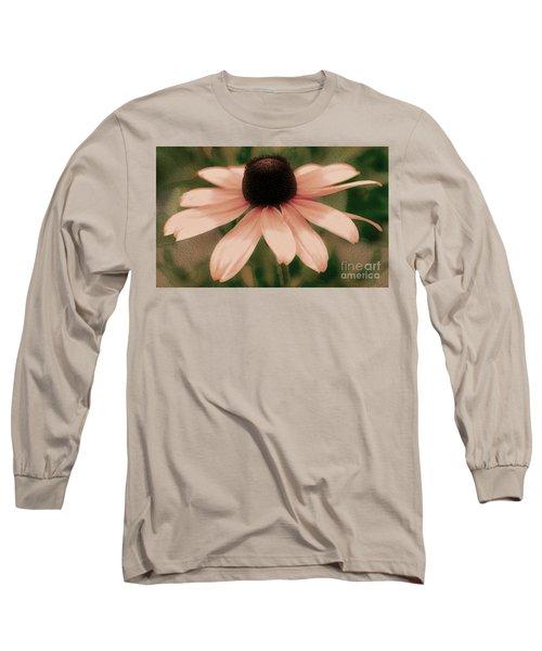 Soft Delicate Pink Daisy Long Sleeve T-Shirt by Judy Palkimas