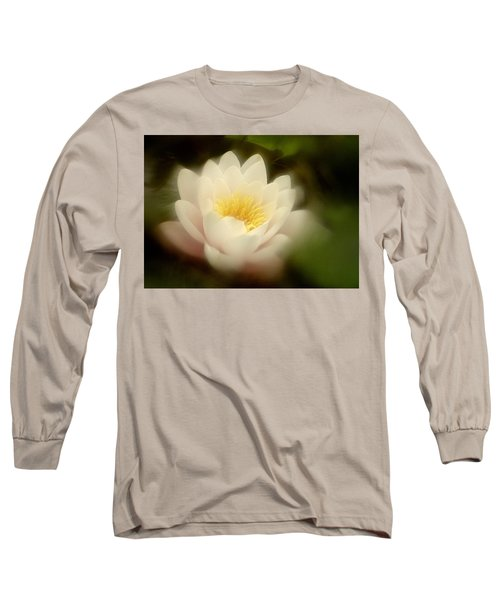 Soft Water Lily Long Sleeve T-Shirt by Richard Cummings