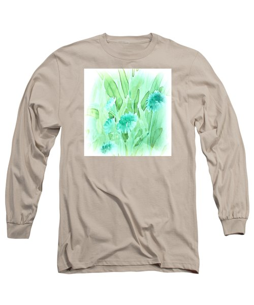 Soft Watercolor Floral Long Sleeve T-Shirt by Judy Palkimas