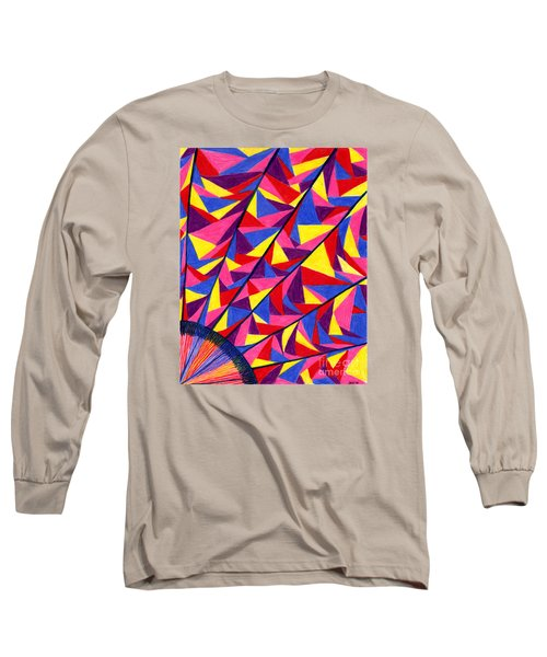 Long Sleeve T-Shirt featuring the drawing Solar Fractals by Kim Sy Ok