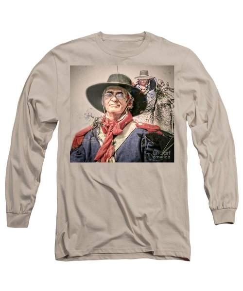 Long Sleeve T-Shirt featuring the mixed media Soldado Composite by Kim Henderson