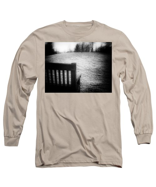 Solitary Bench In Winter Long Sleeve T-Shirt