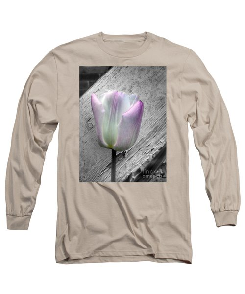 Solitary Pink Whisper Tulip Long Sleeve T-Shirt