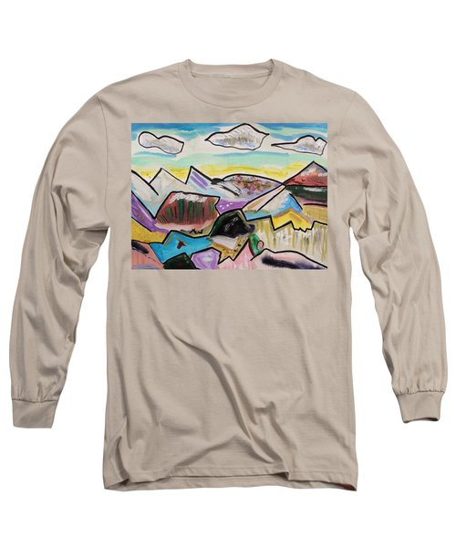 Long Sleeve T-Shirt featuring the painting Some Gold In The Hills by Mary Carol Williams