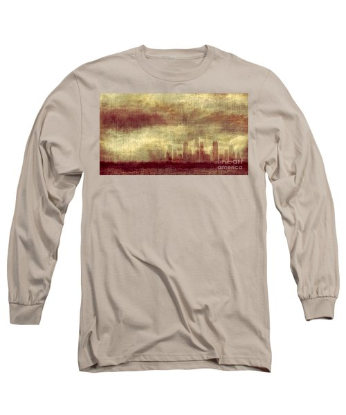 Someone To Hold You Beneath Darkened Sky Long Sleeve T-Shirt