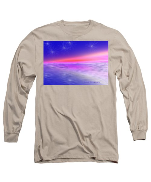 Long Sleeve T-Shirt featuring the digital art Song Of Night Sea by Dr Loifer Vladimir