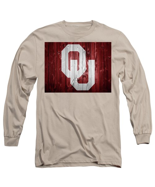 Sooners Barn Door Long Sleeve T-Shirt by Dan Sproul