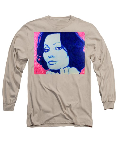 Sophia Loren Pop Art Portrait Long Sleeve T-Shirt