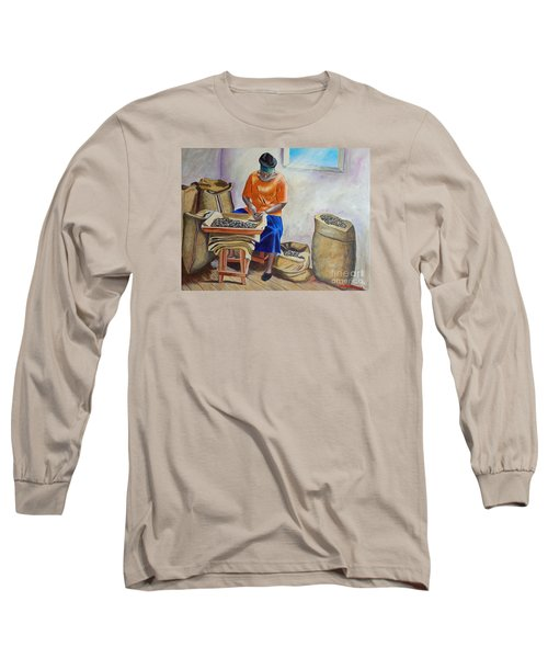 Sorting Nutmegs Long Sleeve T-Shirt by Laura Forde