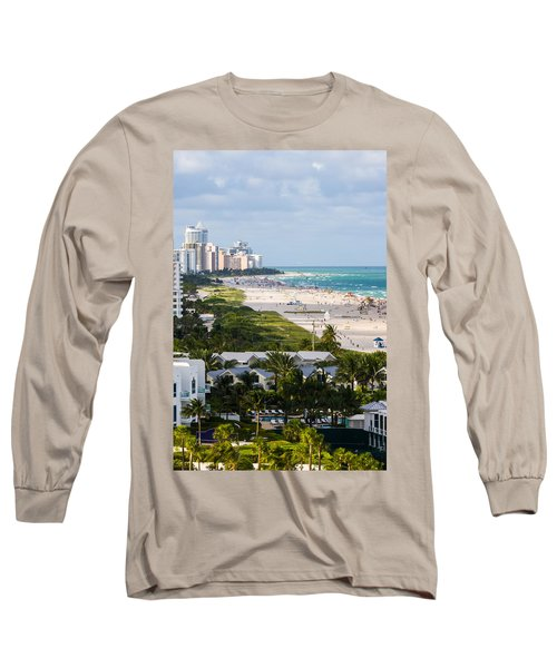 South Beach Late Afternoon Long Sleeve T-Shirt by Ed Gleichman