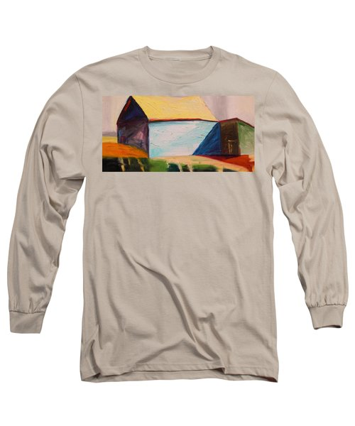 Long Sleeve T-Shirt featuring the painting Southern Barn by John Williams
