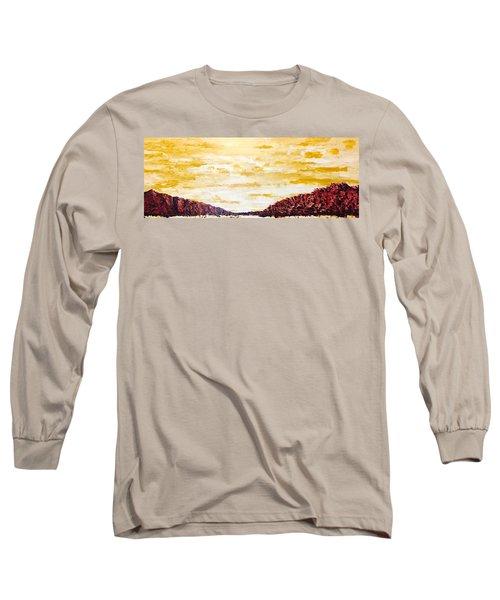 Southwestern Mountain Range Long Sleeve T-Shirt
