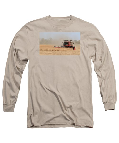 Soybean Harvest In Fremont County Iowa Long Sleeve T-Shirt
